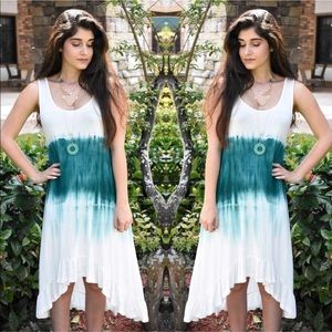 Teal Tie Dye Dress
